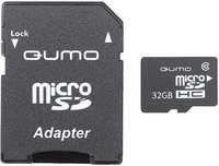 Карта памяти Qumo microsdhc 32gb class 10 uhs-i + адаптер