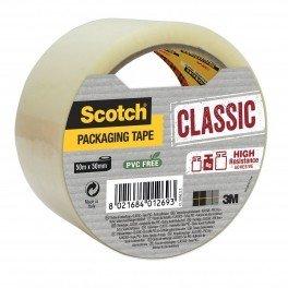 """Упаковочная клейкая лента с повышенной клейкостью """"Scotch"""", 50 мм x 50 метров, прозрачная"""