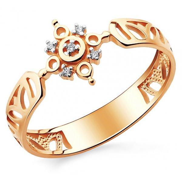 Кольцо православное золото 585 проба с фианитами, арт АЛМ-04