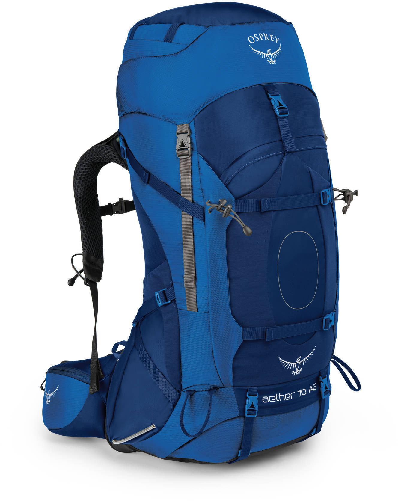 Рюкзак туристический Osprey Aether AG 70 (цвет: Neptune Blue)
