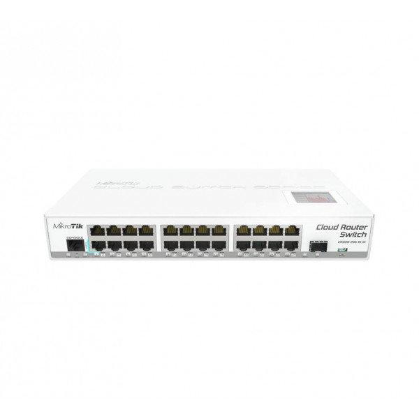Коммутатор Cloud Router Switch Mikrotik 125-24G-1S-IN (RouterOS L5), настольный форм-фактор