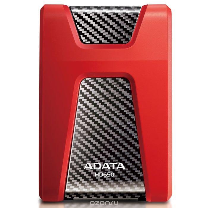 ADATA HD650 1TB USB3.0, Red внешний жесткий диск