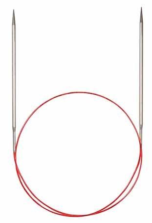 Спицы никелированные круговые с удлиненным кончиком, №3,5, 100 см