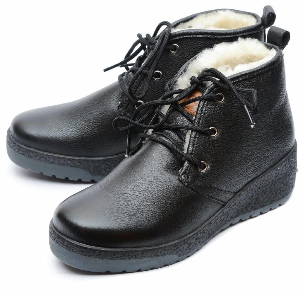женские ботинки натуральная кожа натуральный мех gugu