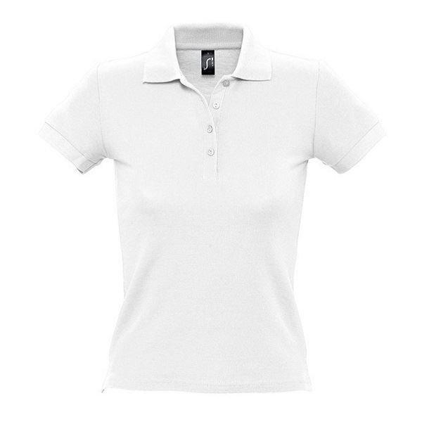 Рубашка поло женская People, белая