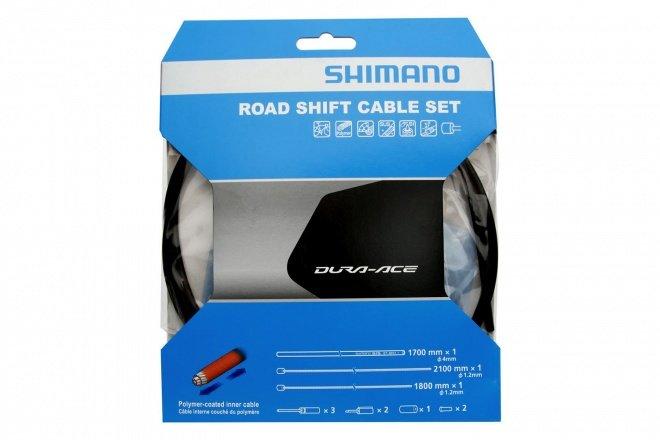 Комплект тросов переключения передач Shimano SP41 Polymer, для шоссе