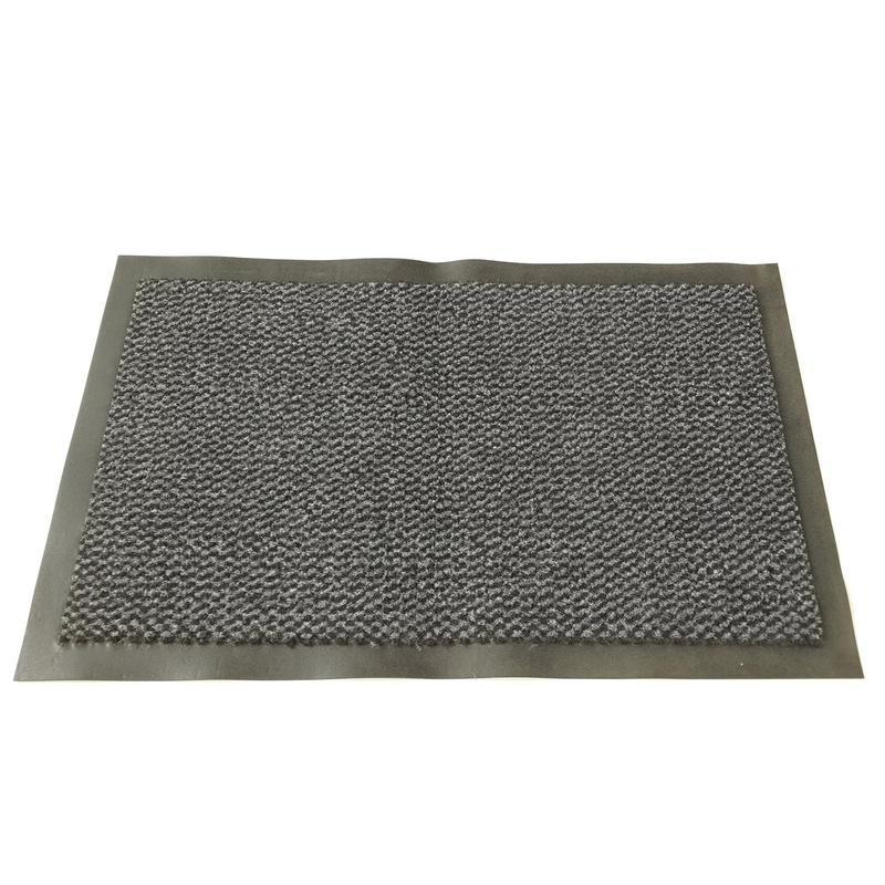 Ковер входной грязезащитный, ворсовый, на ПВХ основе, 90х150х0,8 см, серый