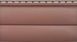 Сайдинг наружный акриловый Альта-Профиль Kanada плюс Blockhouse двухпереломный малый Красно-коричневый