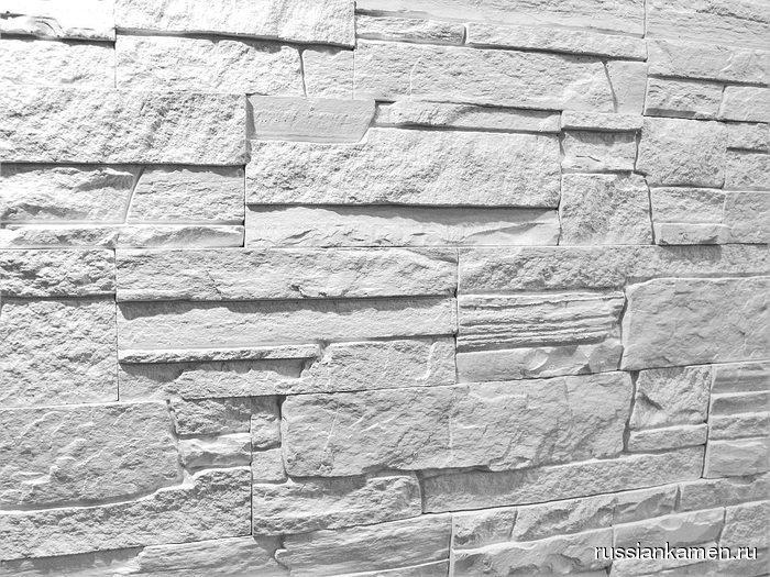 Искусственный камень Сланец классический Белый 1м2