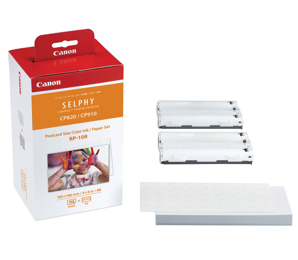 Картридж и бумага CANON RP-108, 108 отпечатков (для CP1200/1000/910/820)