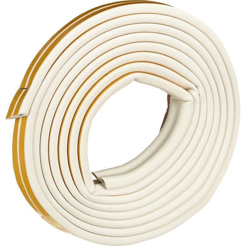 Уплотнители для окон D-профиль (резиновый) на клейкой основе белый 10м/100