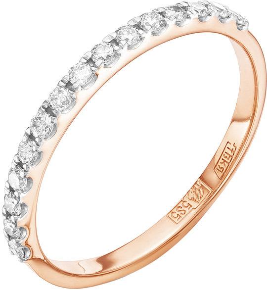 Золотое кольцо Vesna jewelry 1554-151-00-00 с бриллиантами, размер 17 мм