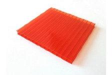 Сотовый поликарбонат SUNNEX 4мм Красный (12x2,1)