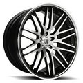 Диск Lexani CVX44 10,5x20/5x120 ЕТ35 D74,1 Black/Machined/Chrome Lip - фото 1
