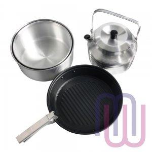 Набор посуды для 4х (2 кастрюли, чайник, сковорода) NovaTour