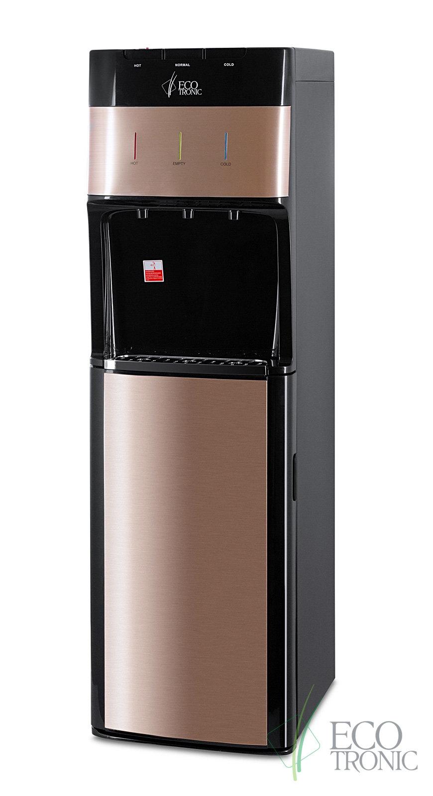 Кулер для воды Ecotronic M30-LXE Black-Gold напольный с нижней загрузкой