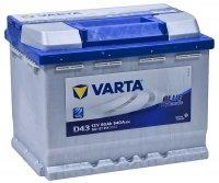 Аккумулятор автомобильный Varta Blue Dynamic D43 60 А/ч 540 A прям. пол. Росс авто (242x175x190) 560127