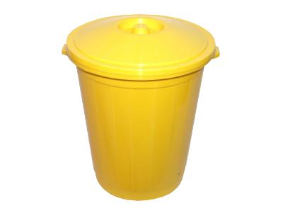 """ООО """"Медком ТК"""" бак для сбора, хранения и перевозки мед. отходов (класс б , 65 литров, желтый)"""