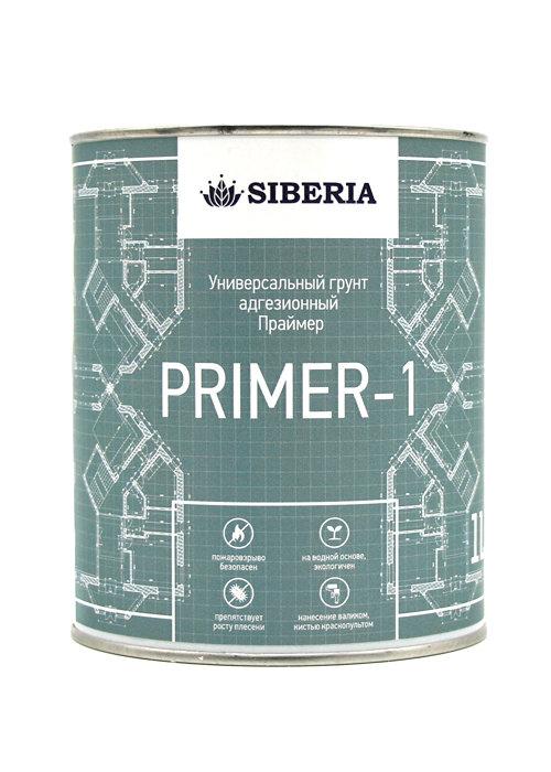 Siberia Праймер-1 Универсальный грунт адгезионный, белый (объем: 1 литр)