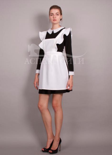 Черное платье и белый фартук
