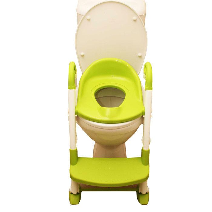 Горшок детский Roxy Kids трансформер 3 в 1 (горшок, насадка на унитаз со ступенькой, адаптор на унитаз), салатовый