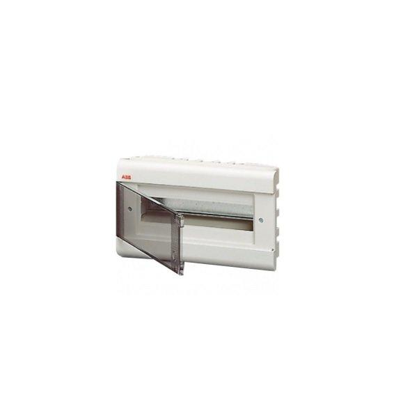 Бокс шкафа/щита ABB Europa Бокс встраиваемый белый 12мод. с дымчатой дв. IP40 (1SL2061A00)
