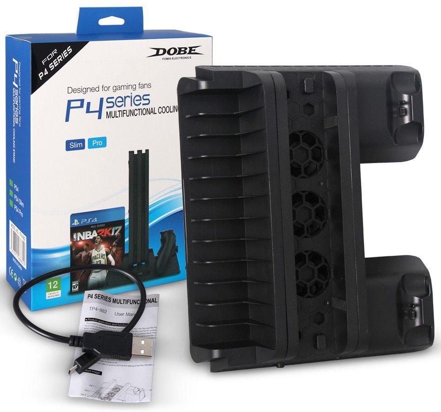 Многофункциональный стенд (подставка) DOBE 5в1 для PS4 Slim/Pro