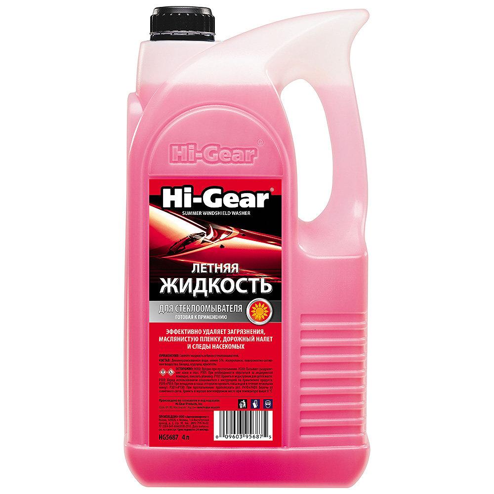 Летняя жидкость для стеклоомывателя Hi Gear (4 л.) HG5687