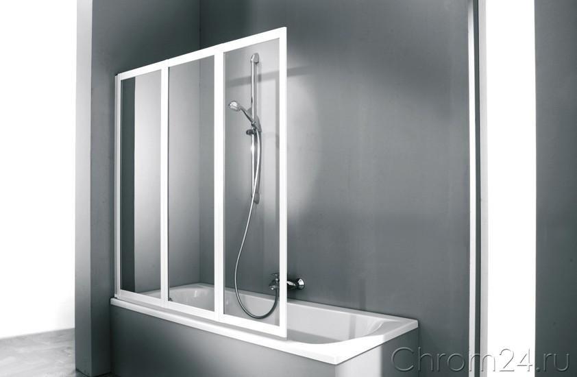 Huppe Combinett 2 шторки для ванной 3х панельная шторка на ванну (AC0401)