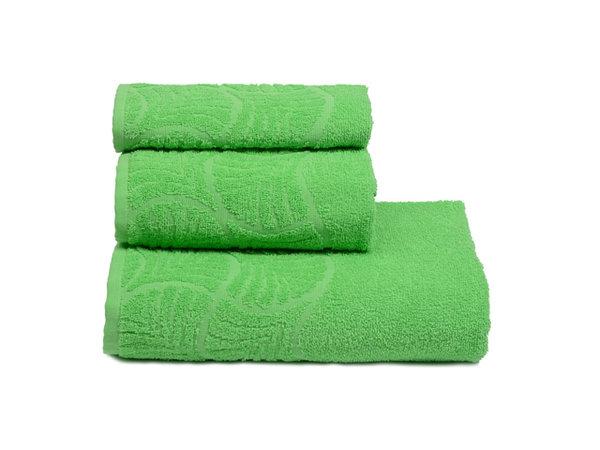 полотенце махр. волна 50х90см зеленое хлопок 100%