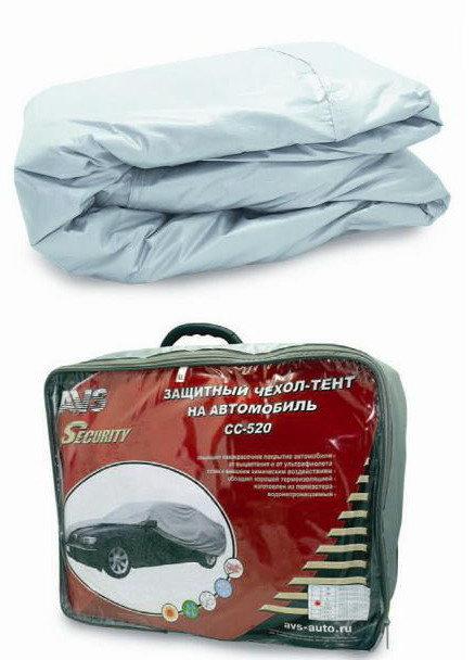 Защитный чехол-тент на автомобиль AVS СС-520, размер L, 457х165х119см для ИЖ 2125 комби