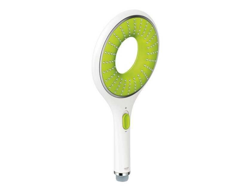 Ручной душ Grohe Rainshower Icon ручной душ, 2 вида струй белая луна / зеленый (27276Ls0)