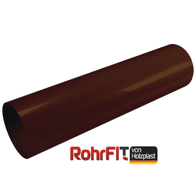 Труба водосточная 120 OE80 Rohrfit - Хольцпласт - Коричневый