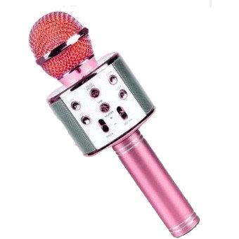Караоке-микрофон WS-858 c Bluetooth (Розовый)