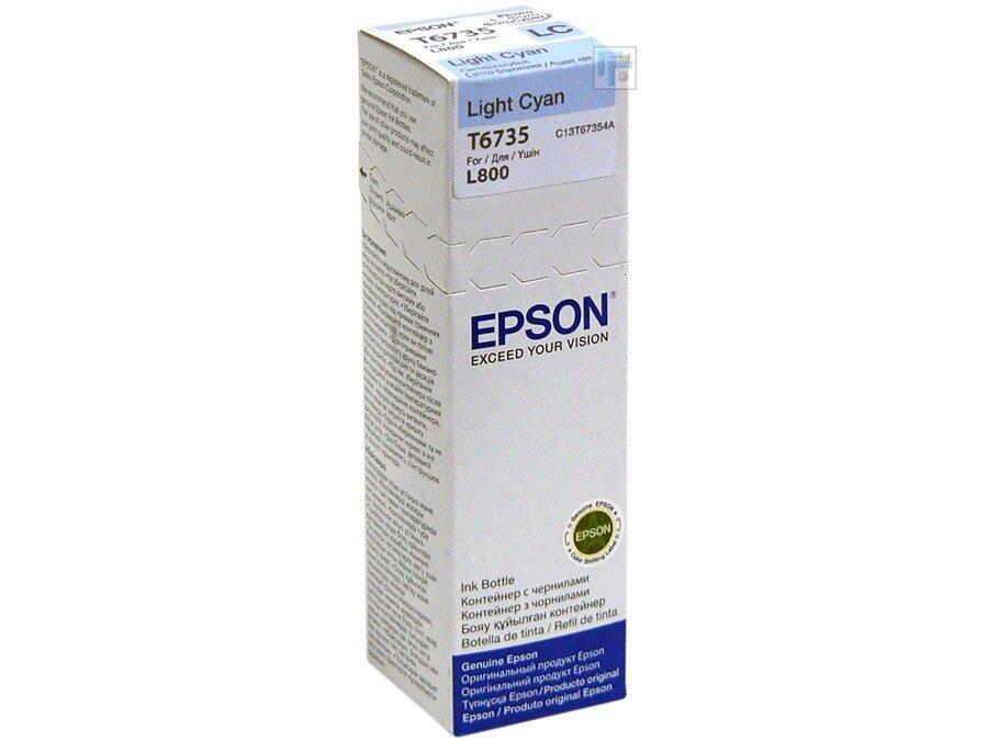EPSON T6735 (C13T67354A) (оригинальный) контейнер с чернилами
