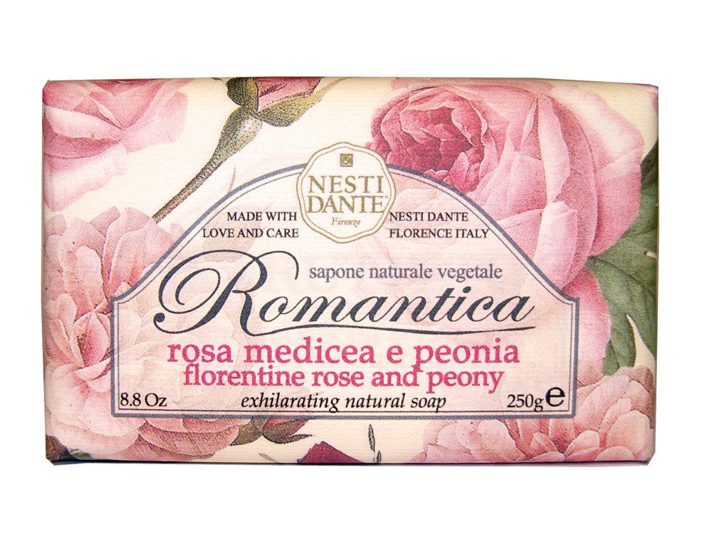 NESTI DANTE Мыло романтика Роза и пион 250 г