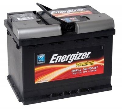 Аккумулятор ENERGIZER Premium EM63L2 563 400 061 обратная полярность 63 Ач
