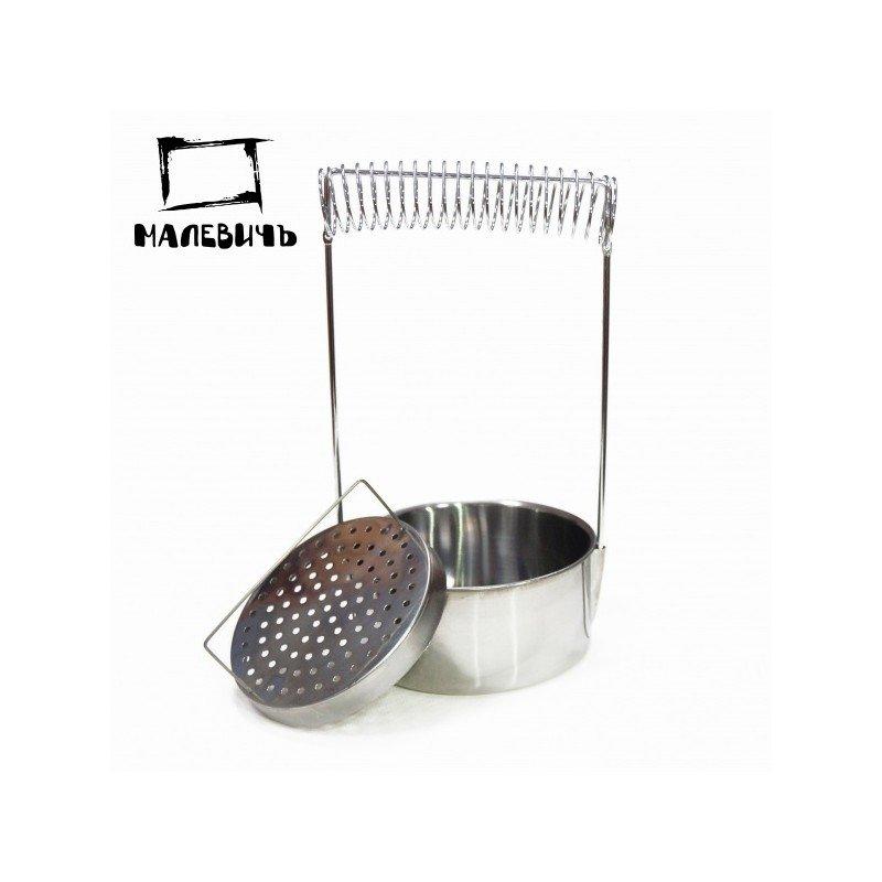 Кистемойка Малевичъ алюминиевая, диаметр 10,5 см, высота 18 см