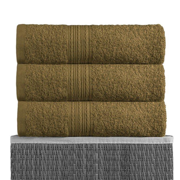 Полотенце Темно-оливковый, ткань махра, размер 100х180 1шт., BAYRAMALY