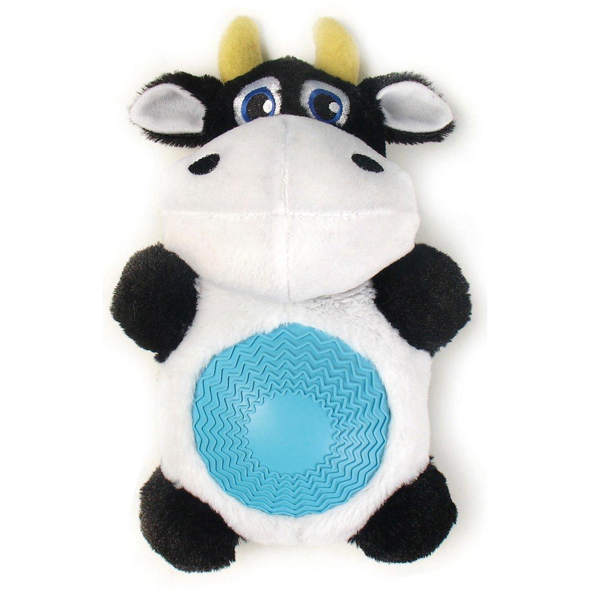 """Игрушка плюшевая """"Корова"""" с резиновым животиком и пищалкой (21см), V.I.Pet 13401"""
