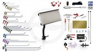 Максимальный набор с мобильной LED лампой Ultra Dent (30 крючков, 4 насадки, 18 аксессуаров, клеевая система, мобильная лампа)