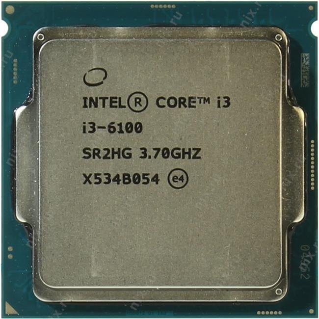 Процессор INTEL Core i3 6-го поколения Core i3-6100 Processor