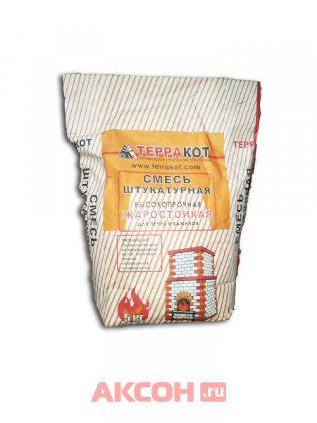 смесь глино-шамотная терракот штукатурная, жаростойкая, высокопрочная 5кг