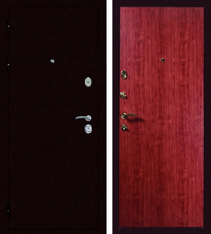 Дверь входная металлическая модель: Дива МД-01 медь