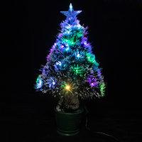Новогоднее украшение - Ёлка светодиодная оптоволоконная, в ведёрке, от сети 220 В