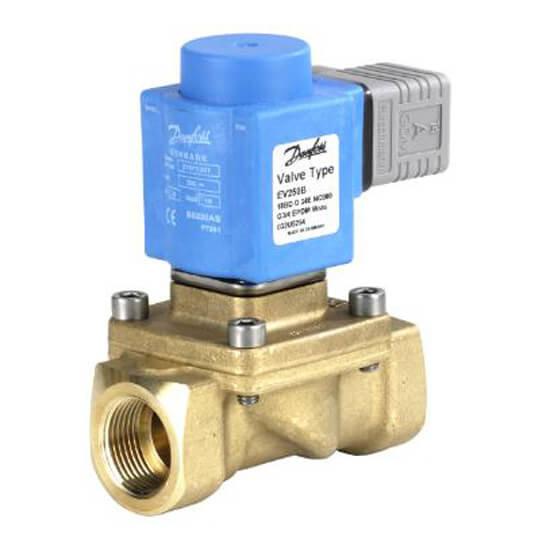 Клапан электромагнитный запорный трехходовой