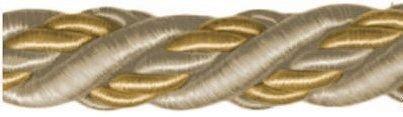 Шнур витой, 11 мм, 25 м (цвет: 90/06, шампань/молочный), арт. 23-103