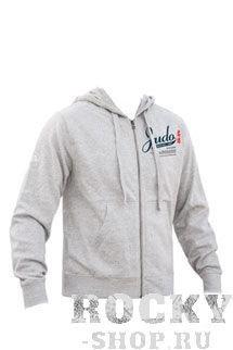 Толстовка с капюшоном judo (с молнией), Серый Green Hill