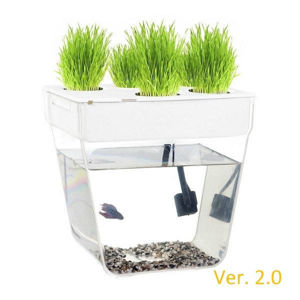 Набор для выращивания растений и ухода за рыбкой Акваферма 2.0 AQUAFARM