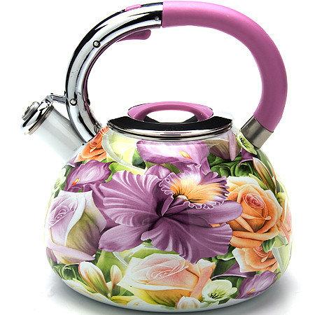 """Чайник со свистком """"Mayer & Boch"""", 3,5 литра, эмалированный (арт. 23854)"""